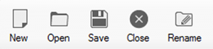 Project related buttons on configurator toolbar