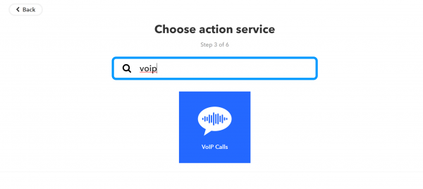Add VoIP as action