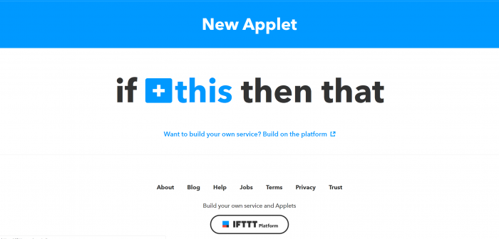Click on IFTTT + This