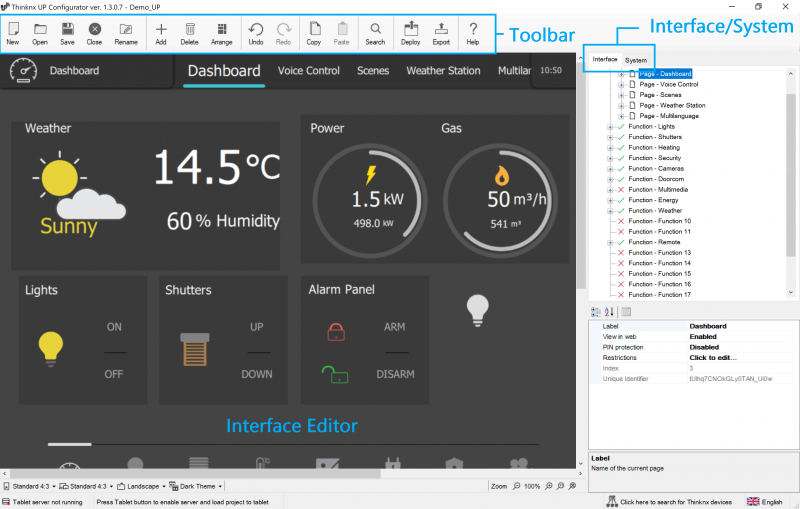 ThinKnx Configurator's Interface
